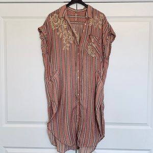Free People One Fine Day Embroidered Blouse, L